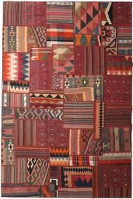 Tekkeh Kelim Teppich  198X300 Echter Moderner Handgewebter Dunkelrot/Dunkelbraun (Wolle, Persien/Iran)
