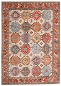 Kazak Teppich 244X342 Echter Orientalischer Handgeknüpfter Hellbraun/Beige (Wolle, Afghanistan)