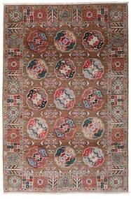 Kazak Teppich  117X176 Echter Orientalischer Handgeknüpfter Dunkelrot/Dunkelbraun (Wolle, Afghanistan)