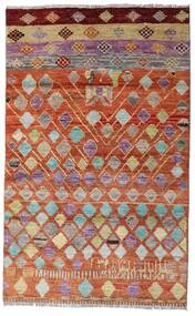Moroccan Berber - Afghanistan Teppich  112X180 Echter Moderner Handgeknüpfter Dunkelrot/Rot (Wolle, Afghanistan)