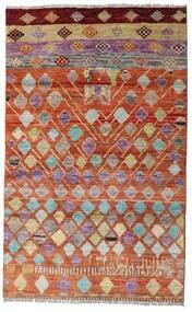 Moroccan Berber - Afghanistan Teppich 112X180 Echter Moderner Handgeknüpfter Dunkelrot/Rot (Wolle, Afghanistan)
