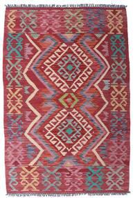 Kelim Afghan Old Style Teppich  99X151 Echter Orientalischer Handgewebter Dunkelrot/Lila (Wolle, Afghanistan)
