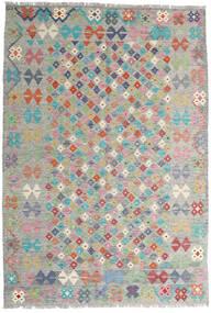 Kelim Afghan Old Style Teppich  163X236 Echter Orientalischer Handgewebter Hellgrau (Wolle, Afghanistan)