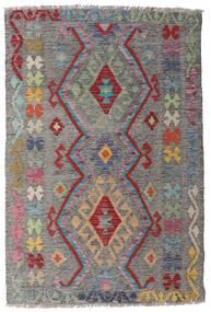 Kelim Afghan Old Style Teppich  98X148 Echter Orientalischer Handgewebter Hellgrau/Dunkelgrau (Wolle, Afghanistan)