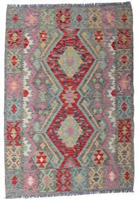 Kelim Afghan Old Style Teppich  103X148 Echter Orientalischer Handgewebter Hellgrau/Dunkelgrau (Wolle, Afghanistan)