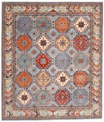 Kazak Teppich 254X294 Echter Orientalischer Handgeknüpfter Hellbraun/Hellgrau Großer (Wolle, Afghanistan)