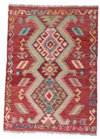 Kelim Afghan Old Style Teppich  102X140 Echter Orientalischer Handgewebter Dunkelrot/Rost/Rot (Wolle, Afghanistan)