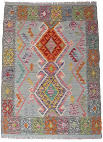 Kelim Afghan Old Style Teppich  105X144 Echter Orientalischer Handgewebter Dunkelgrau/Hellgrau (Wolle, Afghanistan)