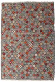 Kelim Afghan Old Style Teppich  107X155 Echter Orientalischer Handgewebter Dunkelgrau/Hellgrau (Wolle, Afghanistan)