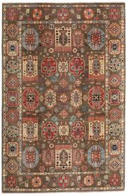 Kazak Teppich 197X299 Echter Orientalischer Handgeknüpfter Hellbraun/Dunkelbraun (Wolle, Afghanistan)