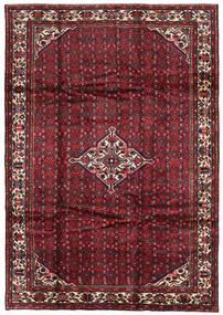 Hosseinabad Teppich 211X300 Echter Orientalischer Handgeknüpfter Dunkelrot/Dunkelbraun (Wolle, Persien/Iran)