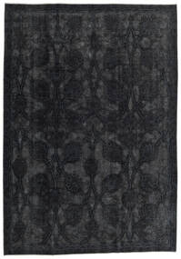 Vintage Heritage Teppich 214X307 Echter Moderner Handgeknüpfter Schwartz (Wolle, Persien/Iran)