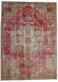 Vintage Heritage Teppich 227X312 Echter Moderner Handgeknüpfter Dunkelgrau/Hellgrau/Dunkelrot (Wolle, Persien/Iran)