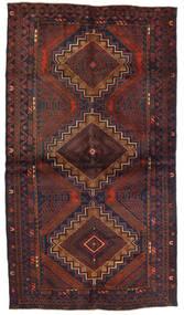 Belutsch Teppich  110X195 Echter Orientalischer Handgeknüpfter Dunkelbraun/Dunkelrot (Wolle, Afghanistan)