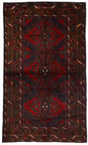 Belutsch Teppich  118X190 Echter Orientalischer Handgeknüpfter Dunkelbraun/Dunkelrot (Wolle, Afghanistan)