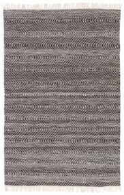 Chinara - Schwarz/Weiß Teppich  200X300 Echter Moderner Handgewebter Hellgrau/Dunkelgrau (Wolle, Indien)