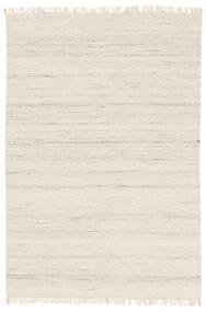 Chinara - Natural/Weiß Teppich  140X200 Echter Moderner Handgewebter Beige (Wolle, Indien)