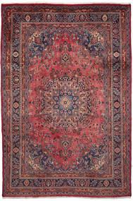 Maschad Teppich  203X302 Echter Orientalischer Handgeknüpfter Dunkelbraun/Dunkelrot (Wolle, Persien/Iran)