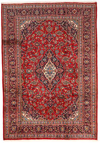Keshan Teppich  200X287 Echter Orientalischer Handgeknüpfter Dunkelrot/Dunkelbraun (Wolle, Persien/Iran)