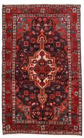 Hamadan Teppich  115X187 Echter Orientalischer Handgeknüpfter Dunkelrot/Schwartz (Wolle, Persien/Iran)