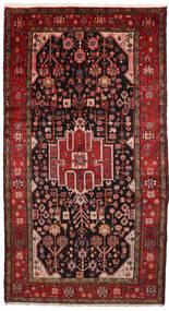 Nahavand Teppich 156X286 Echter Orientalischer Handgeknüpfter Dunkelrot/Dunkelbraun (Wolle, Persien/Iran)