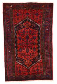 Zanjan Teppich  117X187 Echter Orientalischer Handgeknüpfter Dunkelrot/Rost/Rot (Wolle, Persien/Iran)