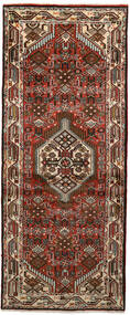Hamadan Teppich  80X194 Echter Orientalischer Handgeknüpfter Läufer Dunkelbraun/Dunkelrot (Wolle, Persien/Iran)