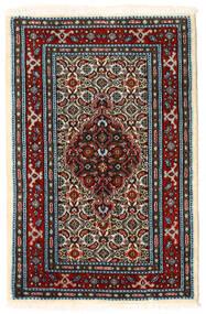 Moud Teppich 59X89 Echter Orientalischer Handgeknüpfter (Wolle/Seide, Persien/Iran)