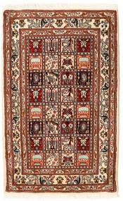 Moud Teppich 62X98 Echter Orientalischer Handgeknüpfter (Wolle/Seide, Persien/Iran)