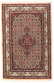 Moud Teppich 60X91 Echter Orientalischer Handgeknüpfter (Wolle/Seide, Persien/Iran)