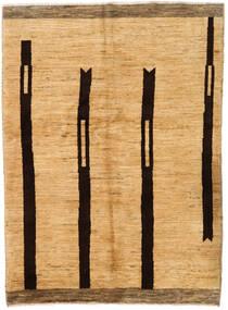 Moroccan Berber - Afghanistan Teppich  143X205 Echter Moderner Handgeknüpfter Gelb/Hellbraun (Wolle, Afghanistan)