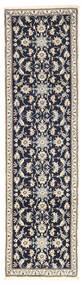 Nain Teppich 79X286 Echter Orientalischer Handgeknüpfter Läufer Hellgrau/Dunkellila (Wolle, Persien/Iran)