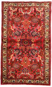 Hosseinabad Teppich  96X163 Echter Orientalischer Handgeknüpfter Dunkelrot/Rot (Wolle, Persien/Iran)