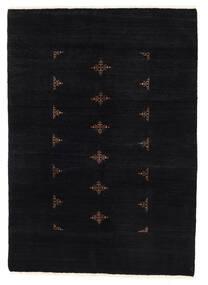 Huttan Teppich  137X195 Echter Orientalischer Handgeknüpfter Schwartz (Wolle, Pakistan)