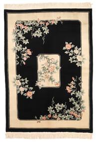 China 90 Line Teppich  168X229 Echter Orientalischer Handgeknüpfter Schwartz/Beige (Wolle, China)