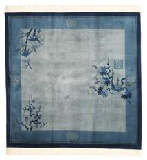 China 90 Line Teppich  244X244 Echter Orientalischer Handgeknüpfter Quadratisch Hellblau/Dunkelblau/Blau (Wolle, China)