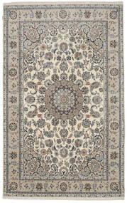 Nain Indisch Teppich  192X308 Echter Orientalischer Handgeknüpfter Dunkelgrau ( Indien)