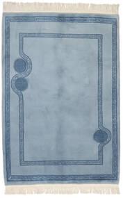 China 90 Line Teppich  138X202 Echter Orientalischer Handgeknüpfter Hellblau/Blau (Wolle, China)