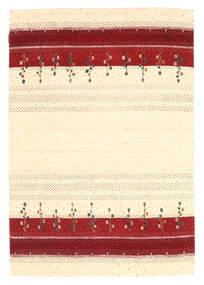 Loribaf Loom Teppich  126X183 Echter Moderner Handgeknüpfter Beige/Dunkelrot (Wolle, Indien)