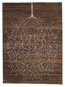 Gabbeh Loribaft Teppich 170X227 Echter Moderner Handgeknüpfter Dunkelbraun/Braun (Wolle, Indien)