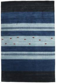 Loribaf Loom Teppich  204X304 Echter Moderner Handgeknüpfter Dunkelblau/Hellblau (Wolle, Indien)