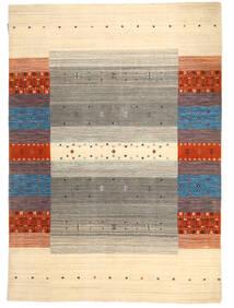 Loribaf Loom Teppich  138X197 Echter Moderner Handgeknüpfter Beige/Hellgrau (Wolle, Indien)