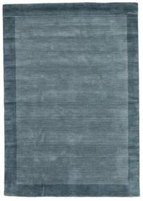 Handloom Frame - Petrol Blau Teppich  160X230 Moderner Blau (Wolle, Indien)