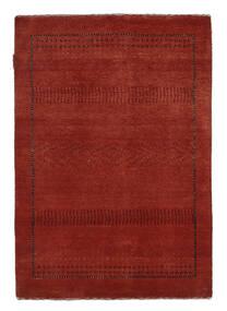 Gabbeh Loribaft Teppich  89X127 Echter Moderner Handgeknüpfter Dunkelrot/Schwartz (Wolle, Indien)
