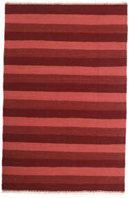 Kelim Teppich  100X153 Echter Orientalischer Handgewebter Dunkelrot/Rost/Rot (Wolle, Persien/Iran)