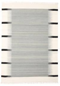 Kati - Grau Teppich  140X200 Echter Moderner Handgewebter Hellgrau/Beige (Wolle, Indien)