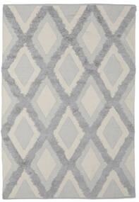 Cilla - Cream/Grau Teppich  100X160 Echter Moderner Handgewebter Dunkelgrau/Dunkelgrün (Baumwolle, Indien)