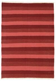 Kelim Teppich  106X150 Echter Orientalischer Handgewebter Dunkelrot/Rost/Rot (Wolle, Persien/Iran)
