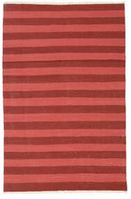 Kelim Teppich  102X158 Echter Orientalischer Handgewebter Dunkelrot/Rost/Rot (Wolle, Persien/Iran)