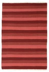 Kelim Teppich  104X150 Echter Orientalischer Handgewebter Dunkelrot/Rost/Rot (Wolle, Persien/Iran)